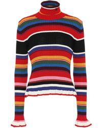 MSGM - Ribbed Turtleneck Sweater - Lyst