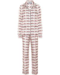 Prada - Printed Silk Pyjama Set - Lyst