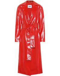 MSGM - Trench-coat en coton verni - Lyst