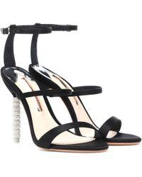 Sophia Webster - Rosalind Crystal-embellished Satin Sandals - Lyst