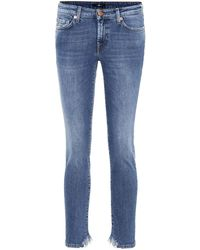 7 For All Mankind - Jeans Pyper Crop - Lyst