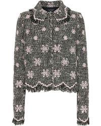 Giambattista Valli Embroidered Tweed Jacket - Black