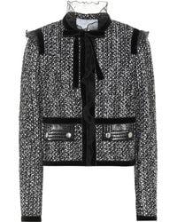 Giambattista Valli - Bouclé Cotton And Silk-blend Jacket - Lyst