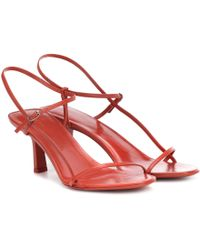 The Row - Bare Leather Sandals - Lyst