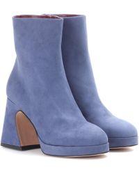 Sies Marjan - Gretta Suede Platform Ankle Boots - Lyst