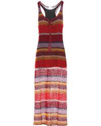 Anna Kosturova - Marsala Crochet Maxi Dress - Lyst