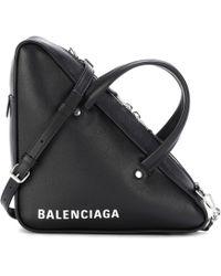 Balenciaga - Triangle Duffle Leather Tote - Lyst