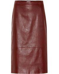The Row - Jaston Leather Skirt - Lyst