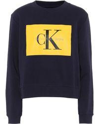 Calvin Klein Jeans - Cotton Logo Sweatshirt - Lyst