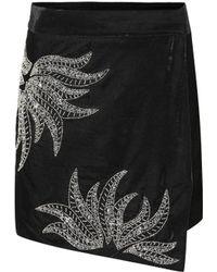 Dodo Bar Or - Embellished Velvet Miniskirt - Lyst