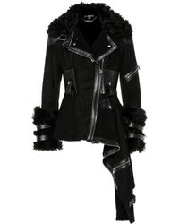 Alexander McQueen - Shearling Biker Jacket - Lyst