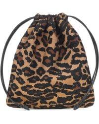 Miu Miu - Multicolor Leopard Drawstring Pouch - Lyst