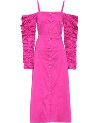 Anna October - Stretch-cotton Cold-shoulder Dress - Lyst