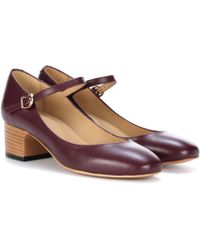 A.P.C. - Victoria Leather Mary Jane Court Shoes - Lyst