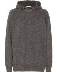 Brunello Cucinelli - Wool, Cashmere And Silk Hoodie - Lyst
