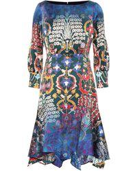 Peter Pilotto - Floral Stretch Silk Dress - Lyst