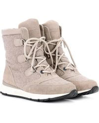 Woolrich - Suede-trimmed Felt Ankle Boots - Lyst
