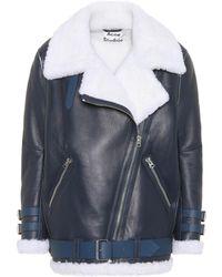 Acne Studios - Velocite Leather Jacket - Lyst