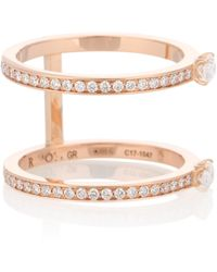 Repossi - Harvest 18kt Rose Gold Diamond Ring - Lyst