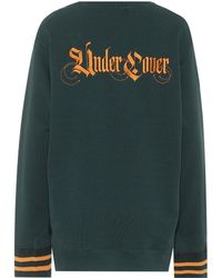 Undercover - Embroidered Cotton Sweatshirt - Lyst