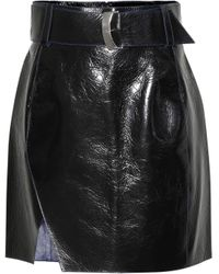 Mugler - Leather Miniskirt - Lyst