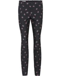 Gucci - Embroidered Cotton And Wool Trousers - Lyst