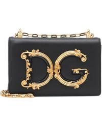 6e8ee7990c20 Dolce   Gabbana - Dg Girls Leather Shoulder Bag - Lyst