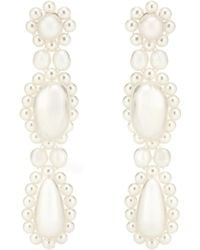 Simone Rocha - Faux Pearl Drop Earrings - Lyst
