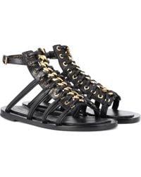 Alexander McQueen - Leather Gladiator Sandals - Lyst