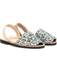 Del Rio London - Exclusive To Mytheresa.com – Tweed Sandals - Lyst