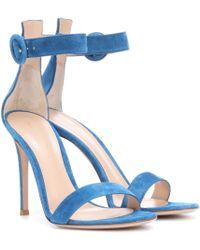 Gianvito Rossi - Portofino 105 Suede Sandals - Lyst