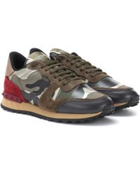 Valentino - Rockrunner Camouflage Trainers - Lyst