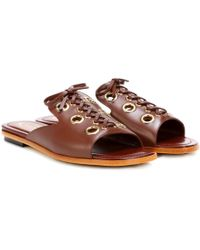 Tod's - Leather Sandals - Lyst