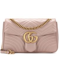 Gucci - Gg Marmont Medium Matelassé Leather Shoulder Bag - Lyst