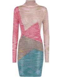 Missoni - Knitted Long-sleeved Minidress - Lyst