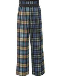 Tibi - Stella Plaid Virgin Wool Pants - Lyst