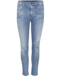 Citizens of Humanity - Rocket Distressed High-rise Skinny Jeans - Lyst