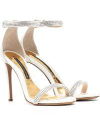 Alexandre Vauthier - Embellished Satin Sandals - Lyst
