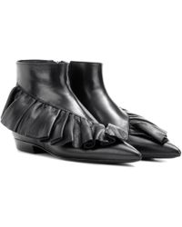 JW Anderson - Ruffle Leather Ankle Boots - Lyst