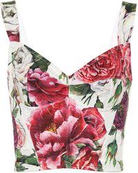Dolce & Gabbana - Floral Brocade Top - Lyst