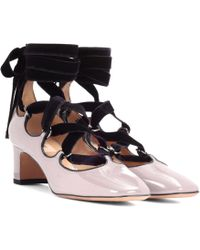 Valentino - Lace-up Patent Leather Court Shoes - Lyst