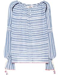 lemlem - Kosi Striped Cotton Blouse - Lyst
