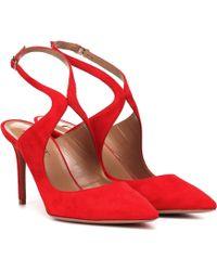 Aquazzura - Talana 85 Suede Court Shoes - Lyst