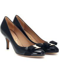 Ferragamo - Carla 70 Patent Leather Pumps - Lyst