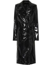 0b298953a27 Pedro Lourenco Vinyl Trench Coat in Black - Lyst