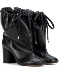 Maison Margiela - Oversized Leather Ankle Boots - Lyst