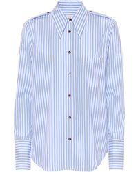 Khaite - Striped Cotton Shirt - Lyst