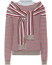 Isa Arfen - Striped Cotton Sweater - Lyst