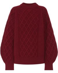 Victoria Beckham | Cable-knit Wool Sweater | Lyst