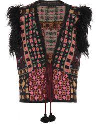 Etro - Faux-fur Trimmed Crochet Waistcoat - Lyst